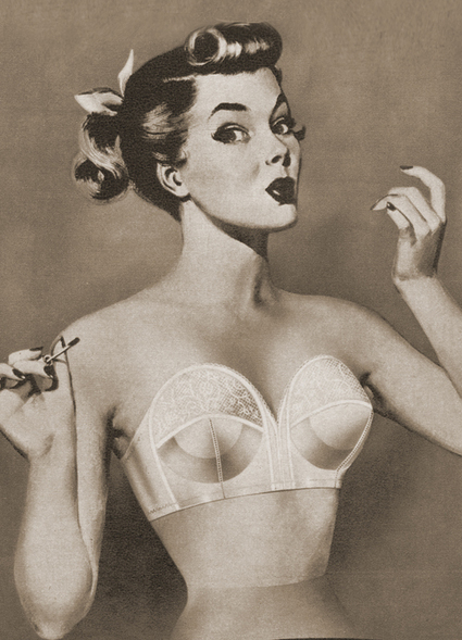 Vintage Bra Ad Illustration | Lingerie Love | Scoop.it