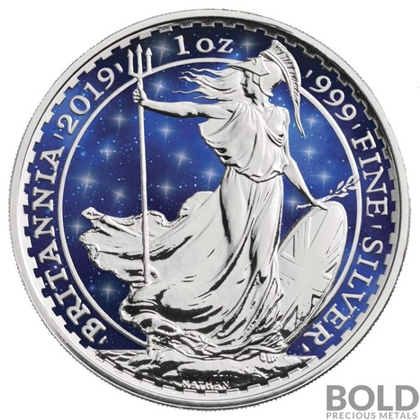 Intaglio Mermaid Silver BU Round 1 oz