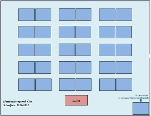 Een eenvoudige klassenplattegrond in excel n for Plattegrond maken op de computer