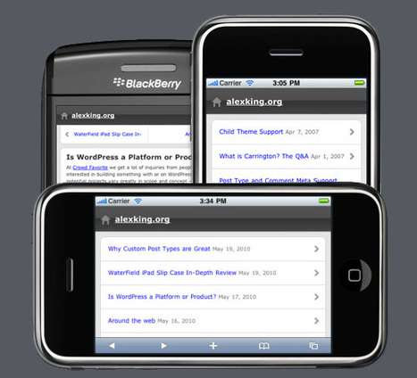 28 High Quality Mobile Themes For WordPress | Great Finds in Webworld | Scoop.it