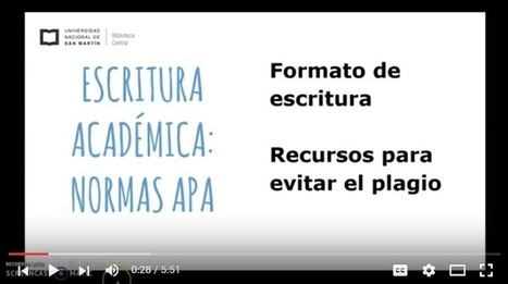 3 Tutoriales en Video sobre las Normas APA 2016 | Formación Digital | Scoop.it