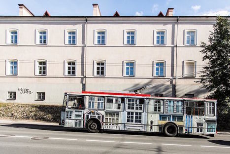 Lithuanian Artist Makes Trolleybuses Disappear Using Optical Illusion Art | Le It e Amo ✪ | Scoop.it