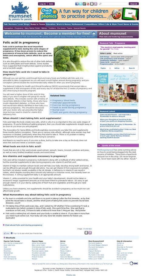 Excellent Folic acid Article on Mumsnet Website @MumsnetBloggers ......! | Go Folic! news | Scoop.it