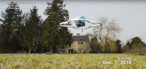 Amazon a livré son premier colis par drone — voici la vidéo | Veille & Culture numérique | Scoop.it