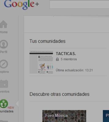 Comunidades en Google+   Nesrin   Scoop.it