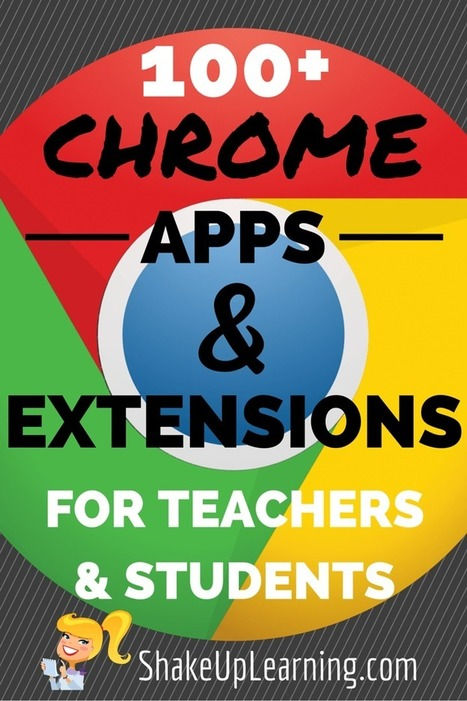 100+ Chrome Apps and Extensions for Teachers and Students | Shake Up Learning | Tech Cadre Corner | Scoop.it