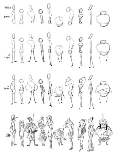 Character sketch process drawing references and resources scoop it