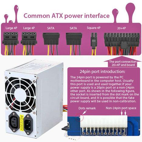 24-pin ATX XH-M229 Computer PC Power Supply Transfer Board Module Adapter Kits