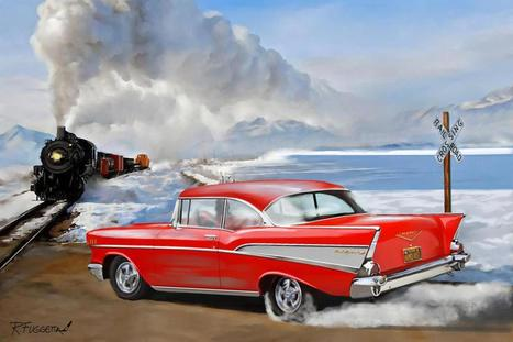 Pinup and Hot Rod Art by Richard Fuggetta | Rockabilly | Scoop.it