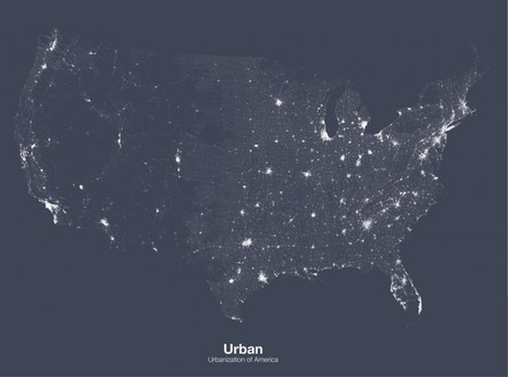 Michael Pecirno's Minimalist Maps Reveal the Hidden Landscapes of America | visual data | Scoop.it