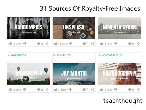 31 Sources Of Royalty-Free Images - TeachThought | Web tools to support inquiry based learning | Scoop.it