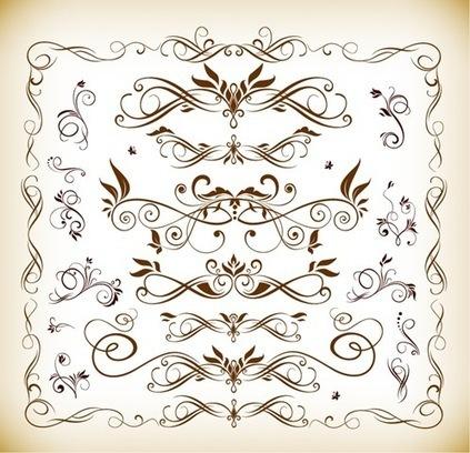 Decenas de marcos, esquinas y filigranas clásicas en vectores   Recursos   Scoop.it