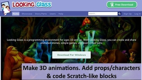 Looking Glass - Make 3D animations & code Scratch-like blocks for movement! | Student Engagement for Learning | Scoop.it