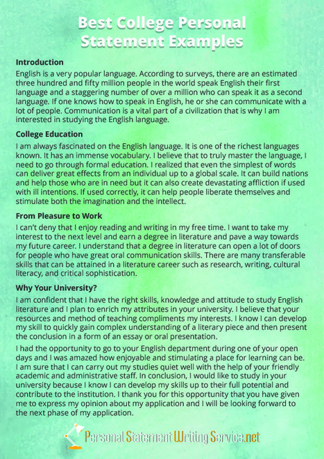 Personal Statement Examples Scoop