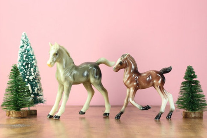 1950's Plastic Horse and Foal | Kitsch | Scoop.it