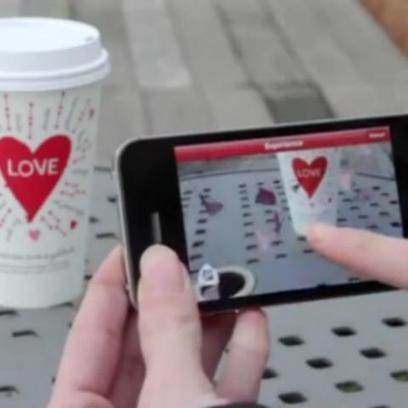 Starbucks Makes Valentine's Day an Augmented Reality [VIDEO] | The Future of Packaging with AR | Scoop.it