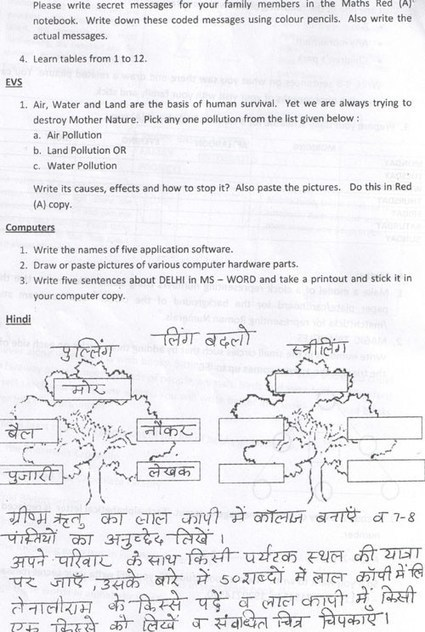 Holiday homework of hindi for class 1 psychte holiday homework of hindi for class 1 ccuart Choice Image