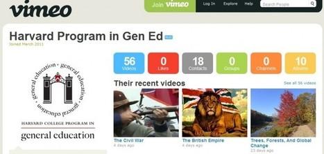 Harvard University puts course syllabuses on Vimeo | Higher Ed Technology | Scoop.it
