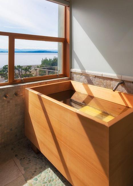 Baignoire japonaise en bois | Arkitektura xehet...