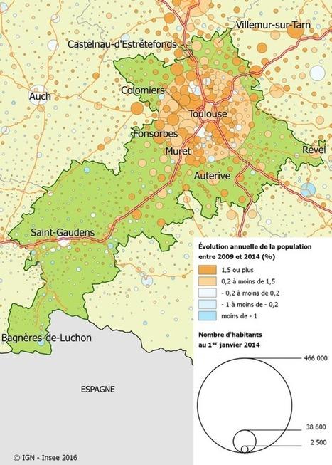 Classement. Voici les villes et les villages de Haute-Garonne qui gagnent le plus d'habitants | La lettre de Toulouse | Scoop.it