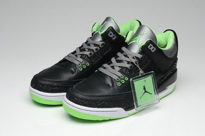 Air Jordan 3 Nike Basketball Shoes Low For Boys Black Green nikejordan3 0002 8000 Cool Jordan High Tops Sneakers Air Jordan Retro Shoes for Men