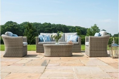 Awe Inspiring Maze Rattan Oxford 3 Seat Garden Sofa Set With Uwap Interior Chair Design Uwaporg