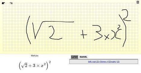 Ecrire une équation ou une formule propre à la main | Innovation et éducation aux médias numériques | Scoop.it