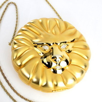 Vintage Lion Purse Figural Rhinestone Metal Hard Case | Vintage Passion | Scoop.it
