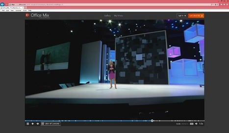 Office Mix amps the slideshow experience with the personality of videos - Office Blogs | Business Training Courses | Scoop.it