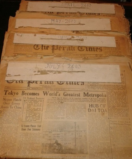 The Perak Times: a rare Japanese-occupation newspaper from Malaya   Malaysian Things   Scoop.it