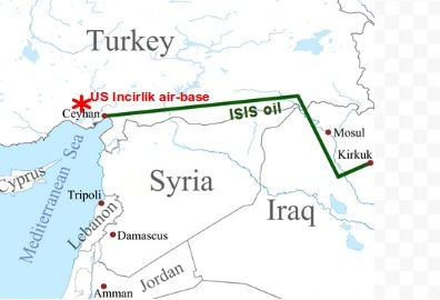 ISIS oil taken to Turkey's Ceyhan port, 34,8km from US Incirlik base, but NATO knew nothing? | Unthinking respect for authority is the greatest enemy of truth. | Scoop.it