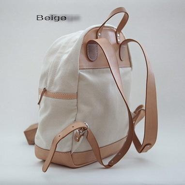 Girls stylish leather canvas daypack backpack - $169.60 : Notlie handbags, Original design messenger bags and backpack etc | Womens fashion | Scoop.it