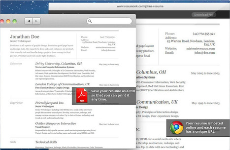 Online Resume Builders: Create a Professionally-Looking CV In Minutes with Resumonk | Personal Branding World | Scoop.it