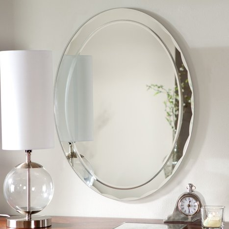 Frameless Aldo Wall Mirror - 23.5W x 31.5H in. | www.simplymirrors.com | Personal | Scoop.it