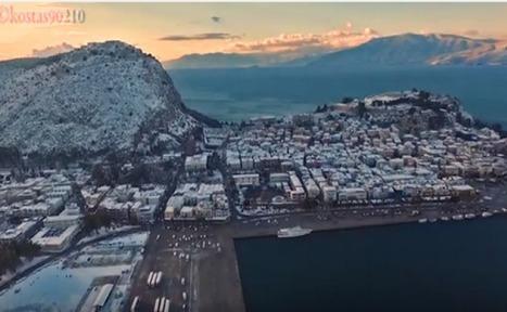 Μαγική πτήση πάνω από το χιονισμένο Ναύπλιο! (Vid)   Greek Media News   Scoop.it