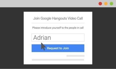 Participer à un Hangout sans compte Google, c'est désormais possible - Blog du Modérateur | RS best practices | Scoop.it