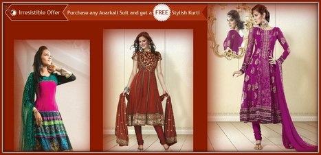 Get free Kurti with any Anarkali Suit.. | Facebook | I don't do fashion, I am fashion | Scoop.it