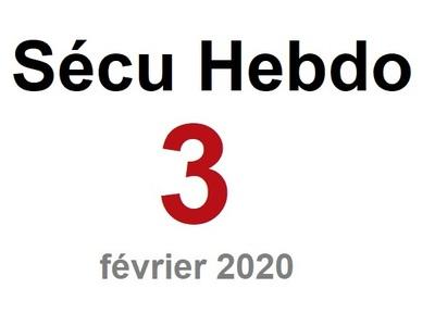 Sécu Hebdo 3 du 16 février 2020