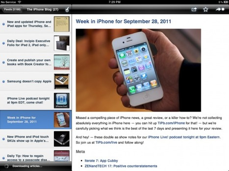 Curated Content: Top 5 RSS news feed readers for iPhone, iPad | TiPb | SOCIAL MEDIA, what we think about! | Scoop.it