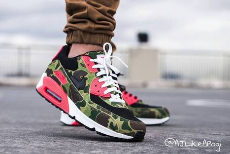 big sale 18cd1 4bfcf ... camo infrared larger image Alvin-Gumabay-Nike-Air-Max-90-Atmos-Duck- ...