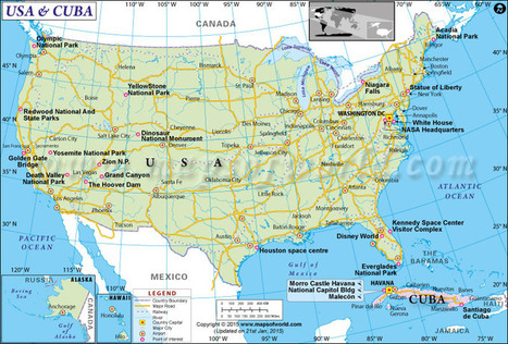 Us And Cuba Map Cuba And Usa Map Maps Sc - Map-of-us-and-cuba