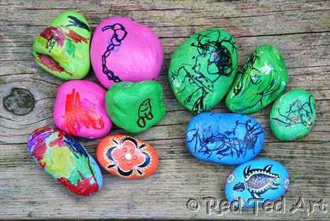 Red Ted Art's Blog » Blog Archive » Kids Craft: Indigenous Inspired Good Luck Stones | Jardim de Infância | Scoop.it