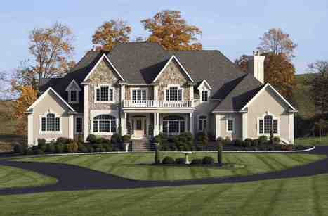 Classic Big Houses Exterior Design Photo Inte