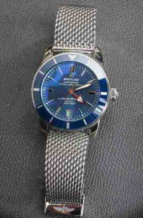 d46362266e67 2019 March Recommeded Breitling Superocean Heritage II Blue Dial Automatic  42 Ref. AB2010161C1A1 Replica Watch Review