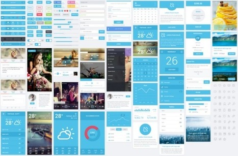 Flatastic - Free Elegant Flat Mobile Ui Kit Download - DesignMain.com   WebDesign   Scoop.it