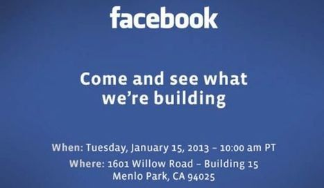 [Facebook] Facebook annonce un mystérieux événement le 15 janvier   Communication - Marketing - Web_Mode Pause   Scoop.it