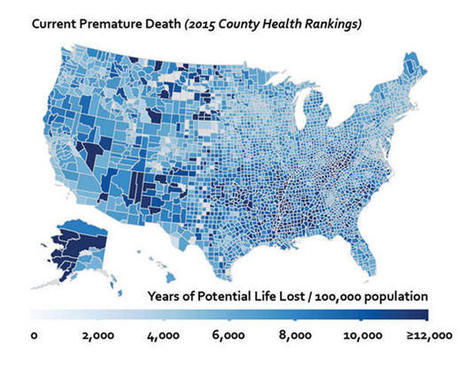 The Health Profile Of Every County In America, Mapped | green infographics | Scoop.it