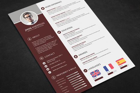 Best Professional Resume Templates (PSD, AI, Word) | Best Resume Templates  In  Resume Template Psd