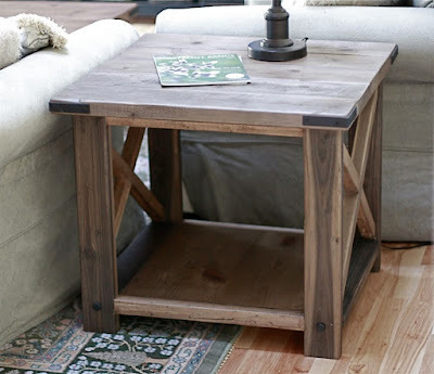 Build A Rustic X End Table Free Easy Di