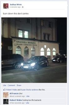BNP member calls for Swansea Mosque & Islamic Community Centre to be burnt down | Properganda | Scoop.it